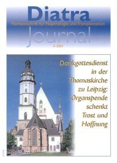 """Zum Titelbild:  Am 27. Mai 2001 fand in der Thomaskirche zu Leipzig ein Dank- und Bittgottesdienst zu dem Thema """"In Dankbarkeit und im Andenken an die Spender und deren Angehörige"""" statt."""