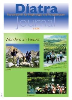 Zum Titelbild:  Bewegung an der frischen Luft, auch für Dialysepatienten ein Muß. Mit diesem Thema hatte die Redaktion des Diatra-Journal die Tourist-Informationen in Lana in Südtirol, Rüdesheim im Rheingau und Lübben im Spreewald um Bildmaterial angesprochen.  Herzlichen Dank für die Übergabe.